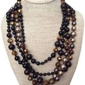 Premier Designs Jewelry - Gold Black Brown Long Necklace Copper Canyon NWT